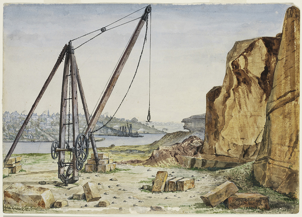 Pyrmont Quarry Sydney, 1893, by A. Tischbauer