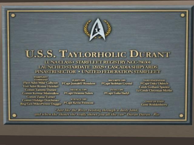 USS Taylorholic Durant NCC 780304