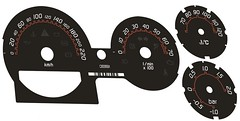 Smart Roadster Brabus style speedo dial plates 220 KM/HOUR full set