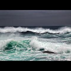 Ocean in waves
