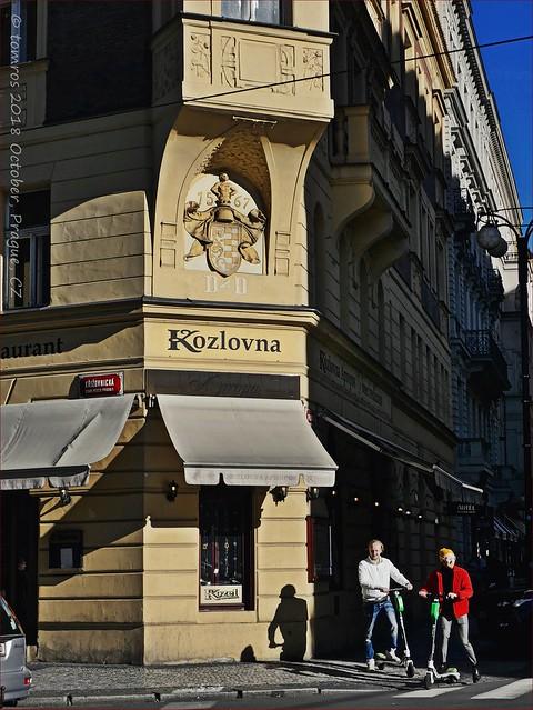 Scooters and Kozlovna 1567? Prague.