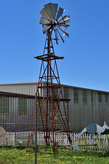 Alston Planetary windmill; Gilgandra Rural Museum, Gilgandra, NSW, Australia
