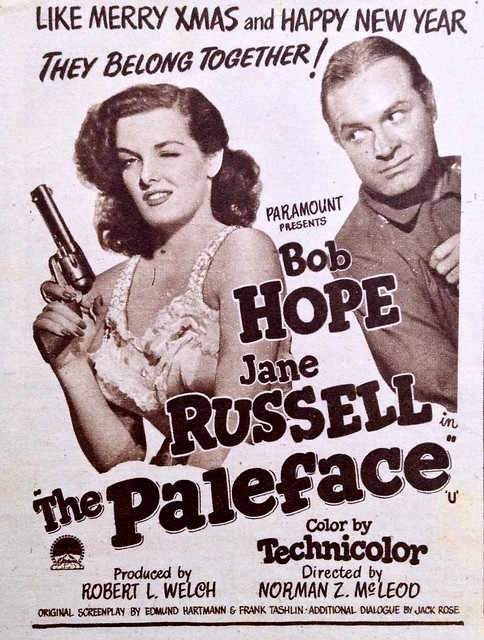 Bob Hope & Jane Russell in 'The Paleface' - 1948