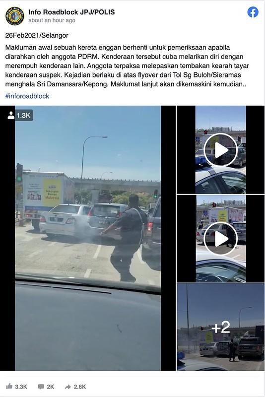 Video Pemandu Rempuh Kereta Gara-Gara Mahu Lari dari Polis Terima Kecaman Netizen