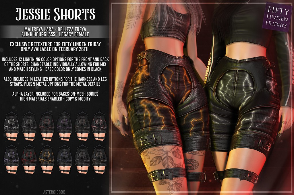 AsteroidBox. Jessie Shorts - FLF Exclusive Version