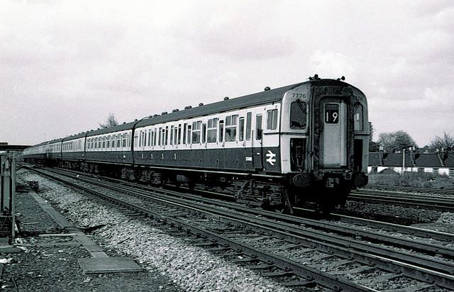 British Rail 4VEP electric unit 7776 Norwood Junction