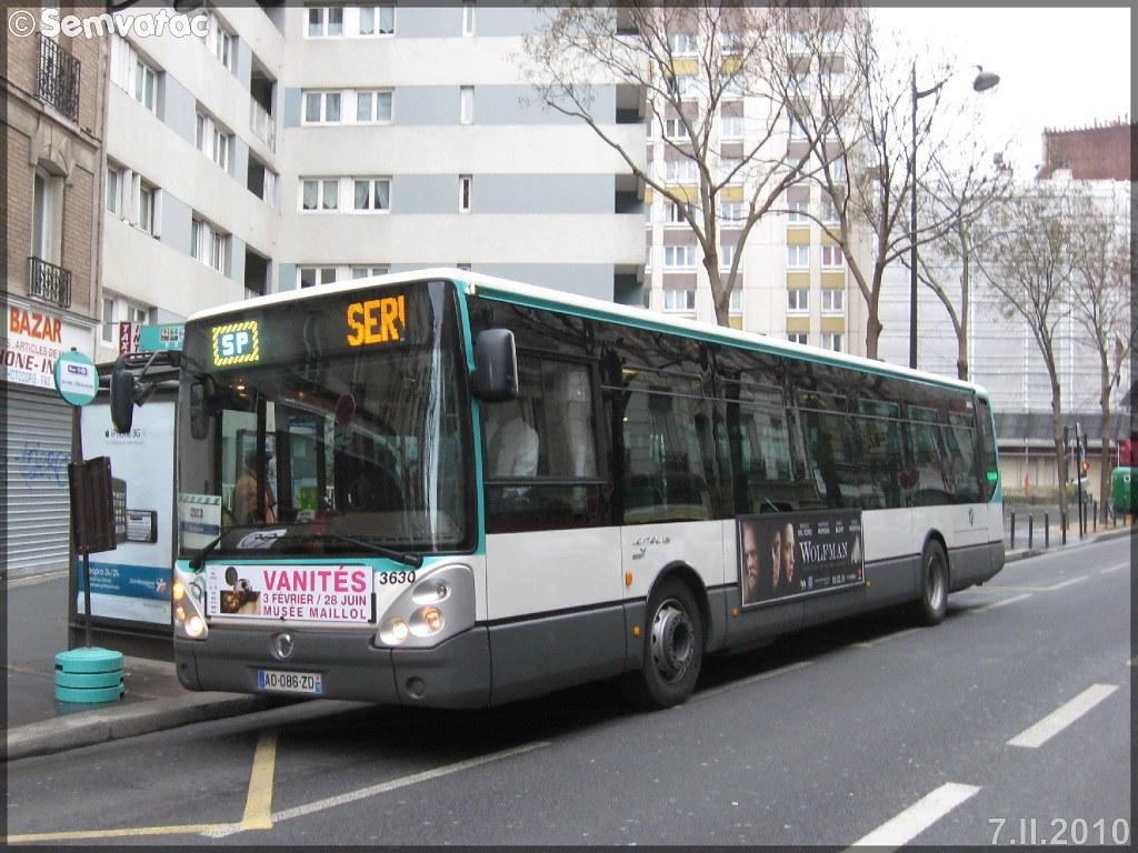 Irisbus Citélis Line – RATP (Régie Autonome des Transports Parisiens) / STIF (Syndicat des Transports d'Île-de-France) n°3630