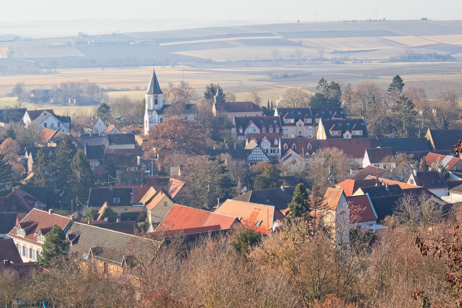 Blick vom Schlossbergturm über Harxheim
