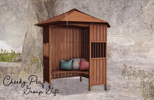Group Gift: Garden Gate Corner Bench