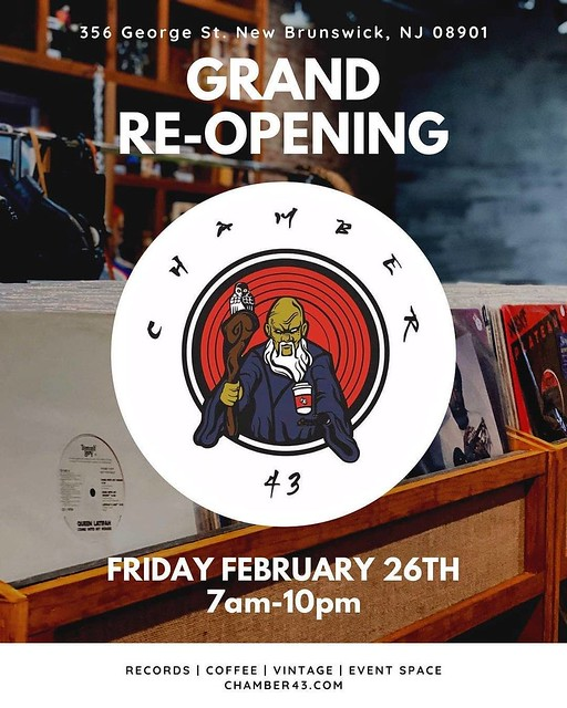 🌟🌟 Grand Reopening 🌟🌟 Now open, we welcome @Chamber43NJ to George Street in New Brunswick!! Stop by to see the setup, complete with records, coffee, and vintage items located at 356 George Street. #cafe #coffee #coffeelover #coffee