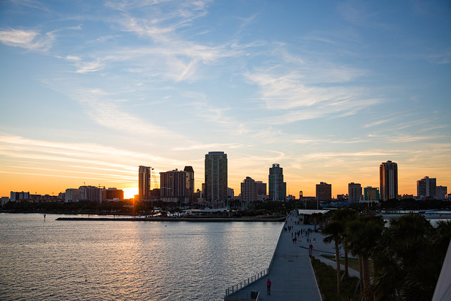 Sunset View at the St. Pete Pier
