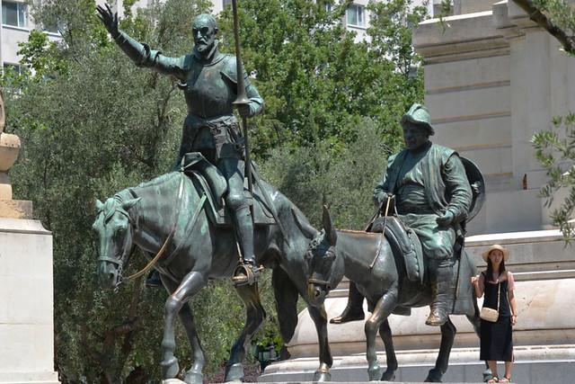 Don Quixote and Sancho Panza, Madrid