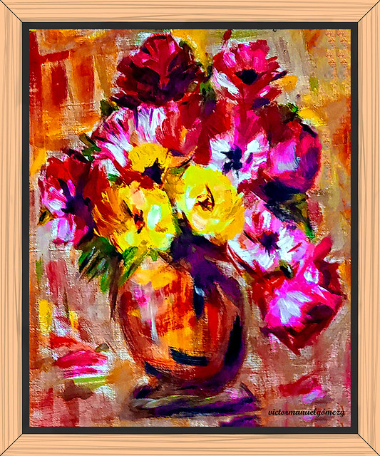 FLORAL. My first Oil Painting, when Adolescent.
