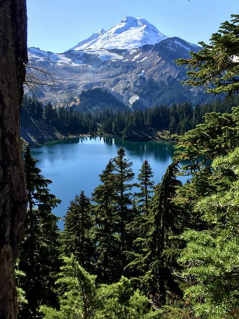 Mt Baker over Iceberg Lake, North Cascades Washington