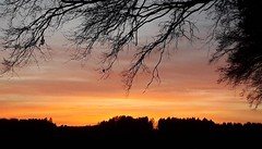 Leuchtender Abendhimmel