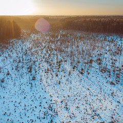 White swamp | Kaunas county aerial