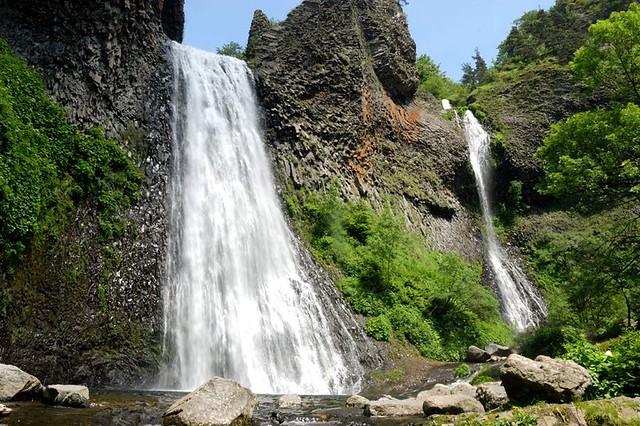 La cascade du Ray Pic chute de 30 m Ardèche région Auvergne Rhône Alpes France