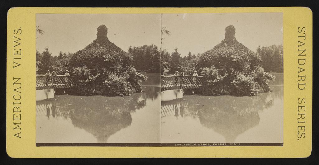 Identified! Rustic Arbor, Forest Hills [Cemetery], [Boston, Massachusetts] (LOC)