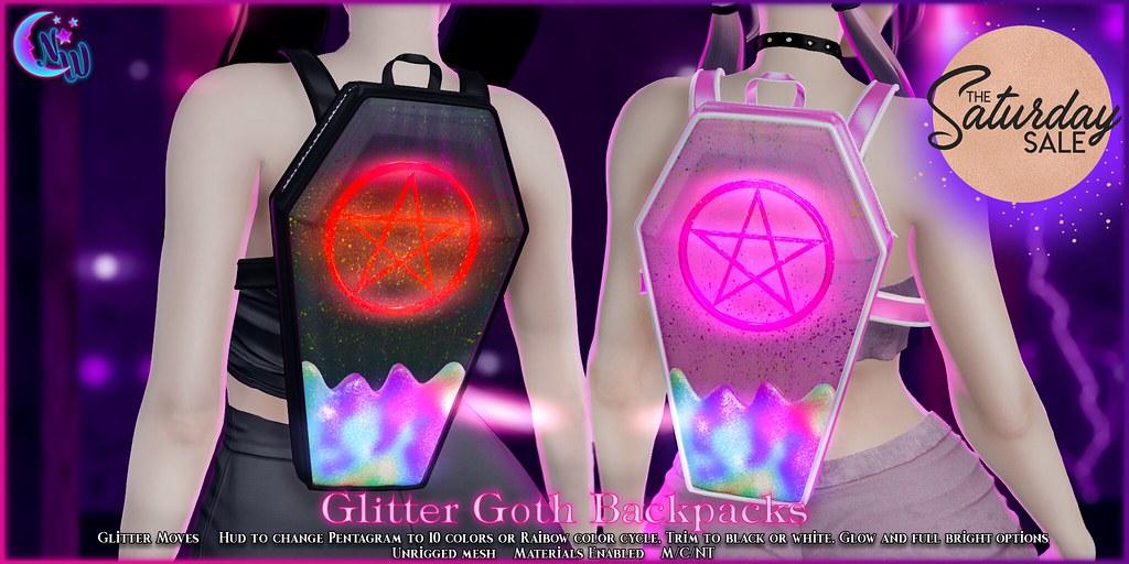 *NW* Glitter Goth Backpack