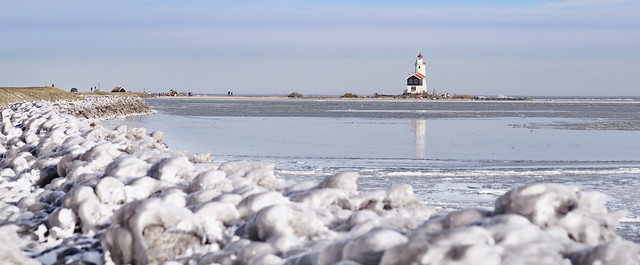 Winter at Marken Lighthouse Anno 2021