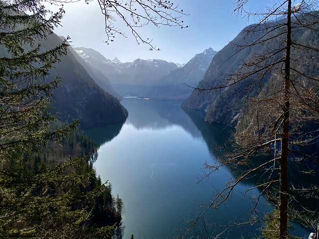 "The Königssee lake seen from the ""Raven's Wall"""