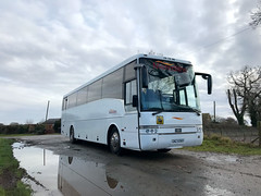 Merediths of Cheshire GNZ 9360, former Star Coaches, Premier Coaches and Highland Heritage (R784WSB) Van Hool Alizee T9 Volvo B10M - Welshampton 22/2/21