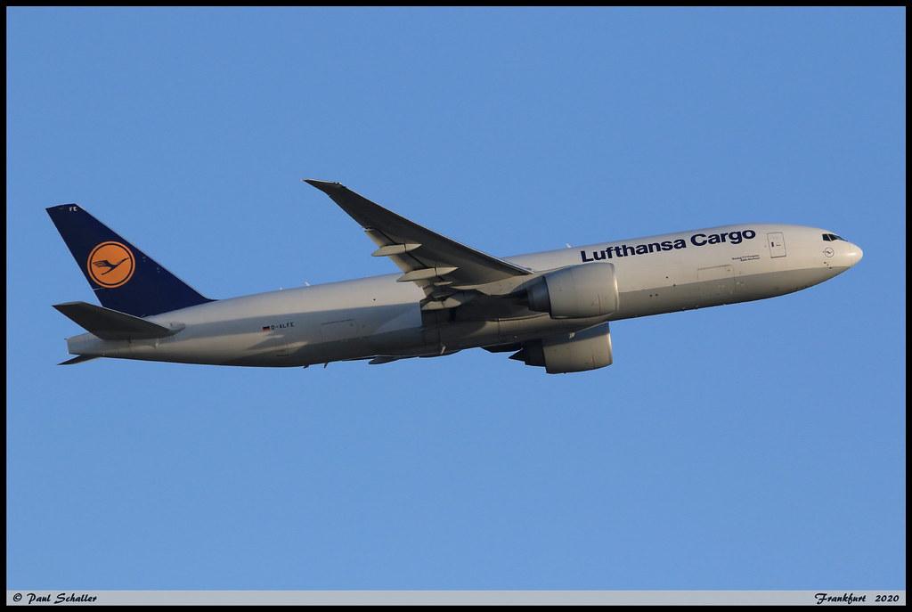 BOEING777 FBT Lufhansa Cargo D-ALFE 41678 Frankfurt aout 2020