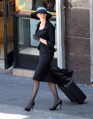 Anne Hathaway On The Set Of 'The Dark Knight Rises'