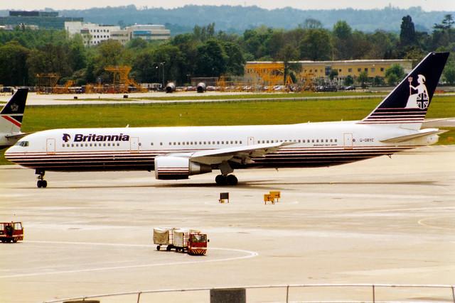 Britannia Airways | Boeing 767-300ER | G-OBYC | London Gatwick