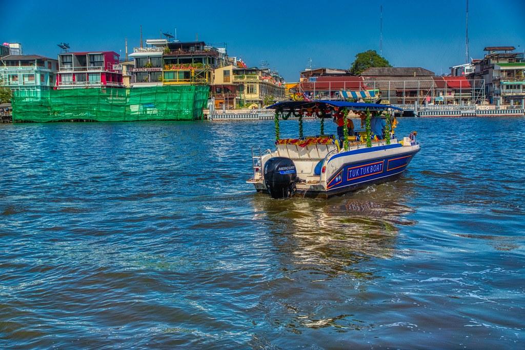 Tuk Tuk Boat on the Chao Phraya river in Bangkok, Thailand