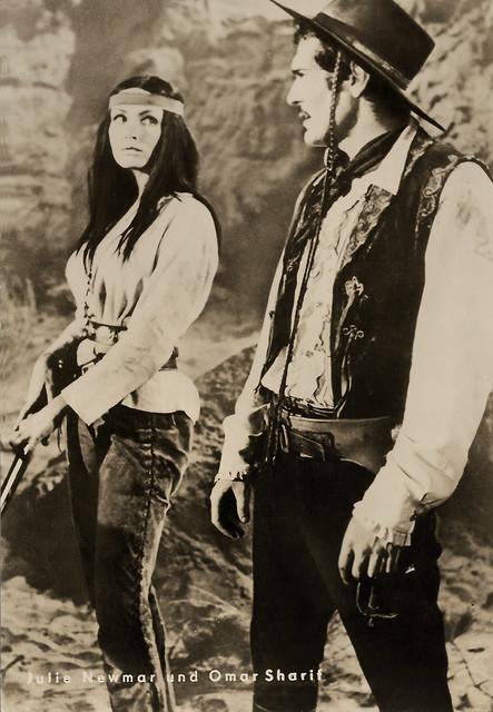 Julie Newmar and Omar Sharif in Mackenna's Gold (1969)