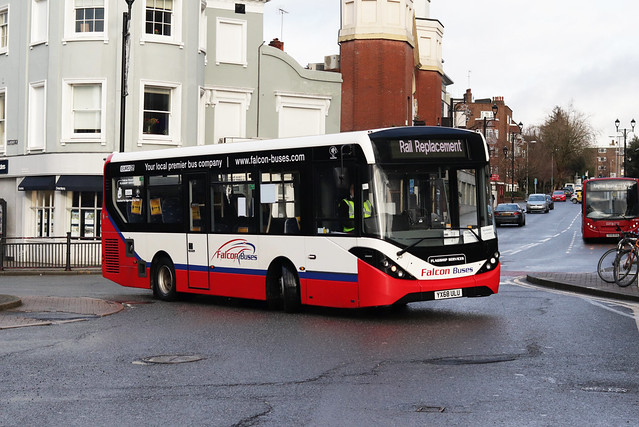 SWR Rail Replacement, Falcon Buses, YX68ULU