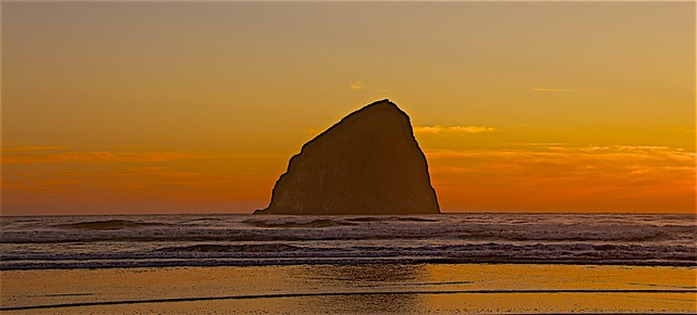 Beautiful Sunset At Pacific City, OR
