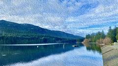 Westwood Lake in watercolour