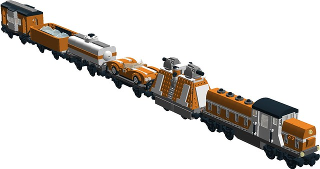 Nexus Force - RS-1 diesel with freight train