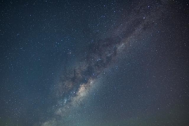 Stars and milky way night sky