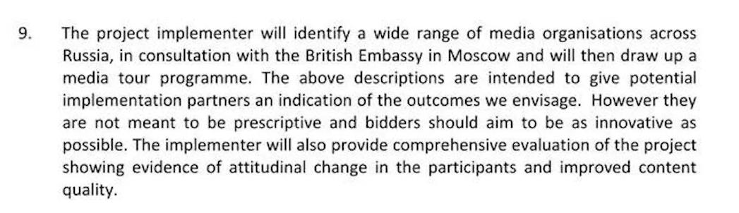 Appel d'offre du ministère britannique des Affaires étrangères