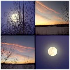 Twilight and Full Moon, Feb. 26, 2001