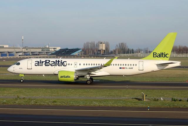 air Baltic A220-300 YL-AAR departing AMS/EHAM