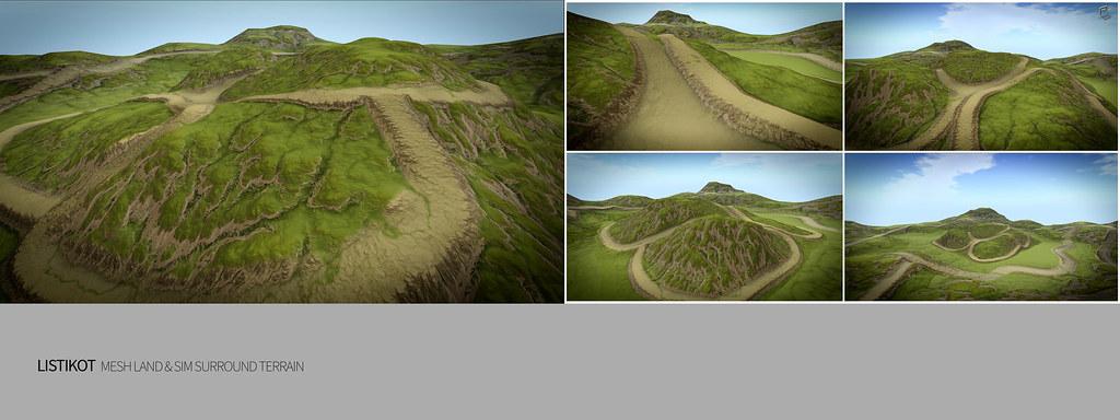 LISTIKOT Mesh Land & Sim Surround Terrain
