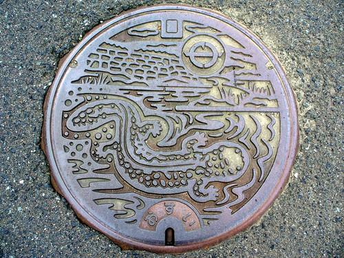 Yabu Hyogo, manhole cover 2 (兵庫県養父町のマンホール2)