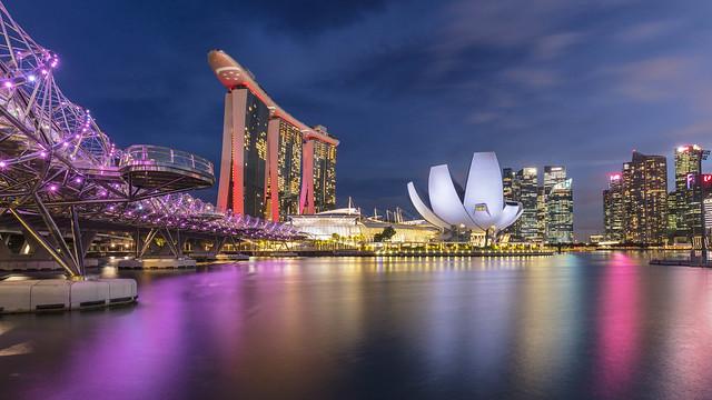 Blue Hour at Singapore Marina Bay