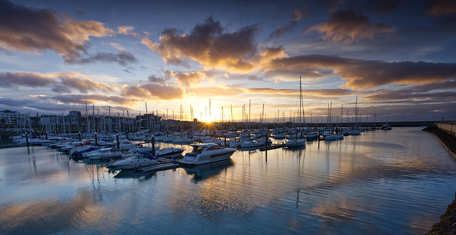 Sunset Reflections - Dun Laoghiare Marina