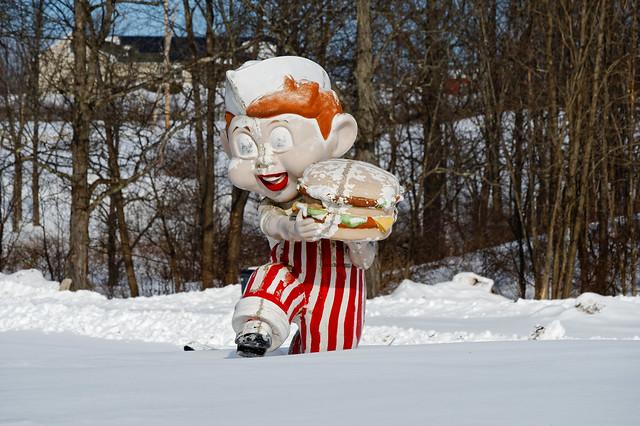 Big Boy in the Snow