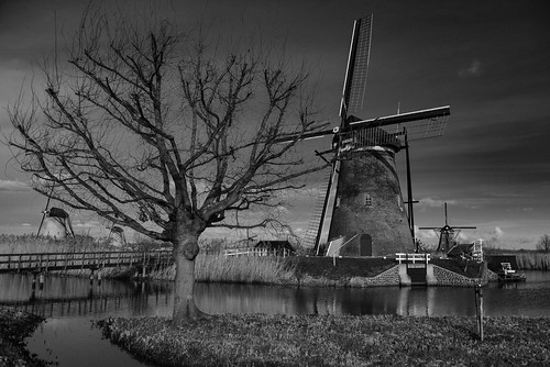 dutch landscape water architecture windmill