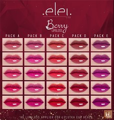 .E l e i. - Berry (Lipgloss) for #SKS 02282020