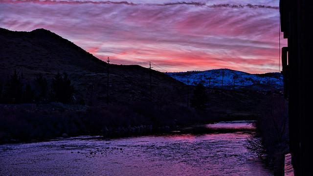 Sunset at the River Inn