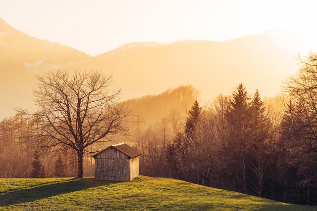 Sunsets in Switzerland
