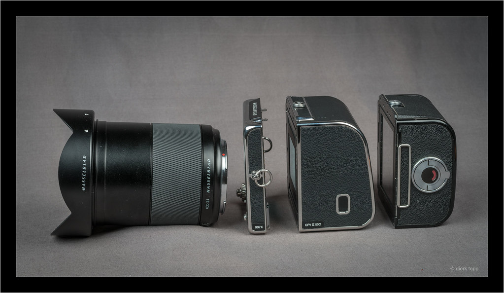 XCD 4/21 - Hasselblad 907X -  CFV II 50C digital back and normal 6x6 film back
