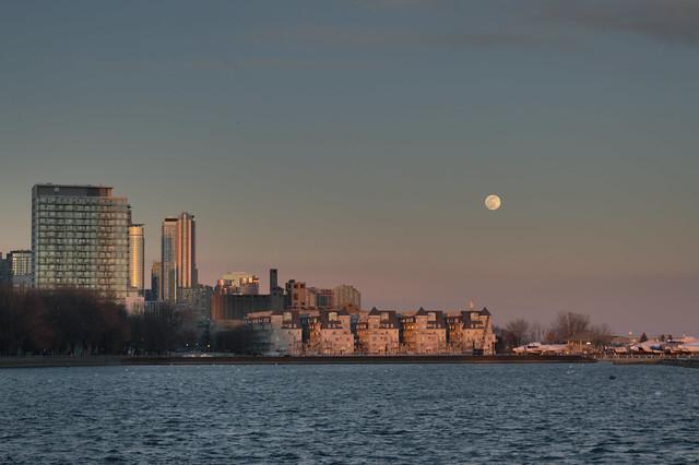Toronto Skyline with Moon #2